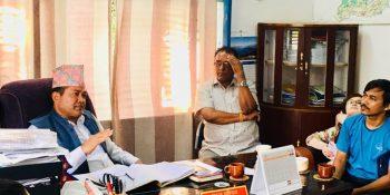 mayor sanju pandit talkin with nccinuwakot bod members