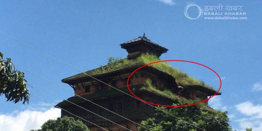 nuwakot durbar crack roof