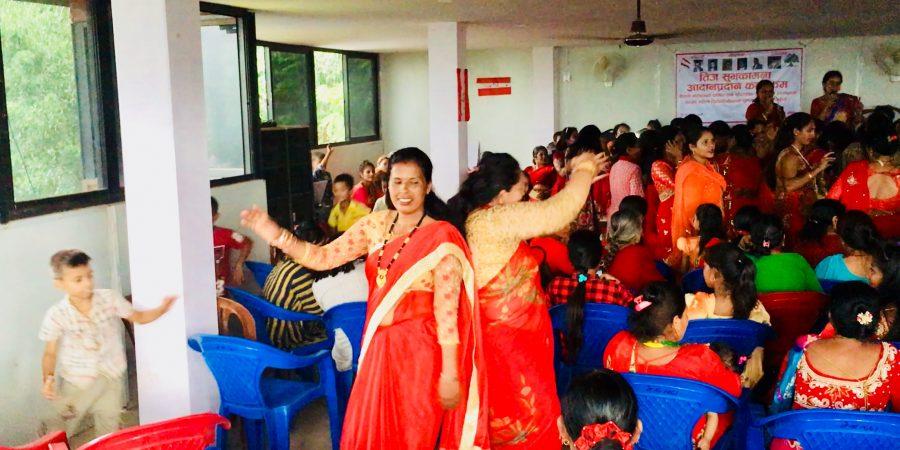 Dancing a teej festival Apsara Thapa Nuwakot