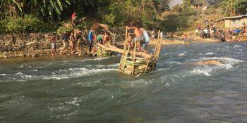 bamboo bridge nuwakot
