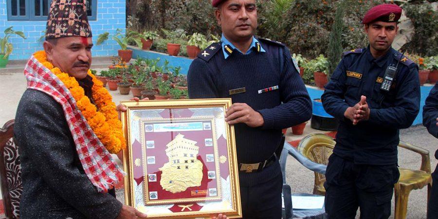 Basanta Kunwar SP Nepal Police Farewell