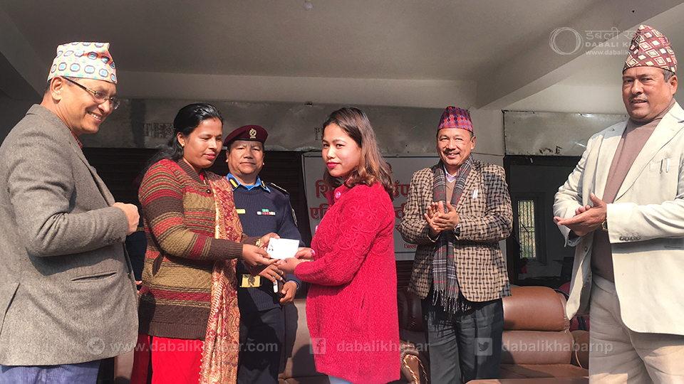 citizenship distribute in shivapuri rural municipality camp