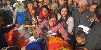 death body of ganesh pandit cpuml nepal nuwakot