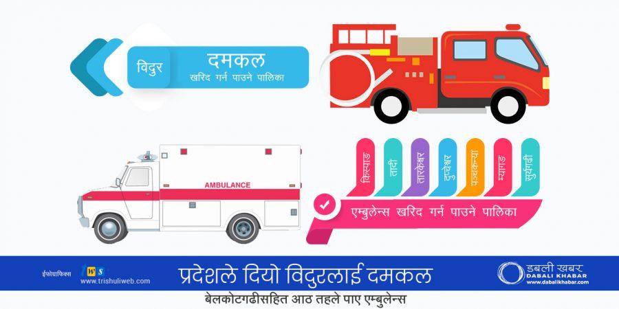 ambulance fire truck nuwakot