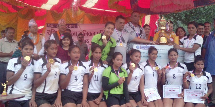 first deputy mayor cup volleyball wins apf women team