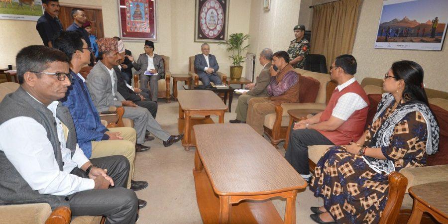meeting with home minister ram bahadur thapa badal