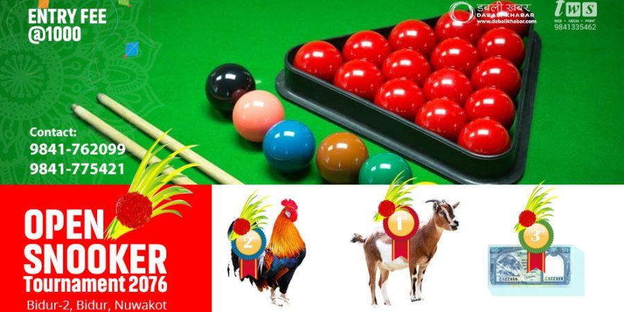 dashain snooker tournament 2076
