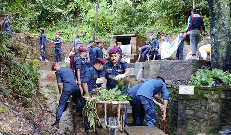 64th police day nuwakot