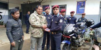 thift motorcycle nuwakot police dponuwakot