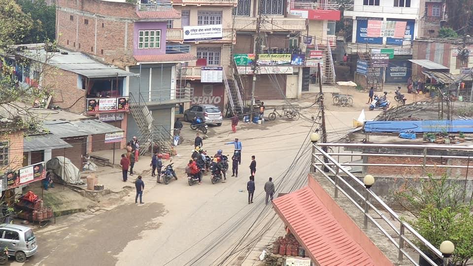 coronavirus covid-19 lock down arrested to people in battar nuwakot