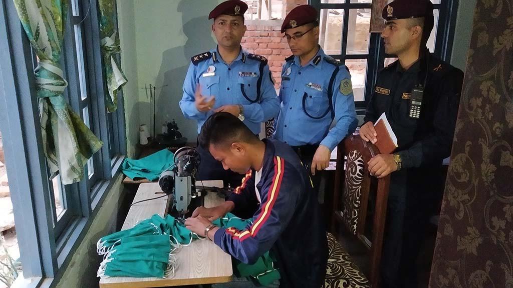 mask swing nuwakot police