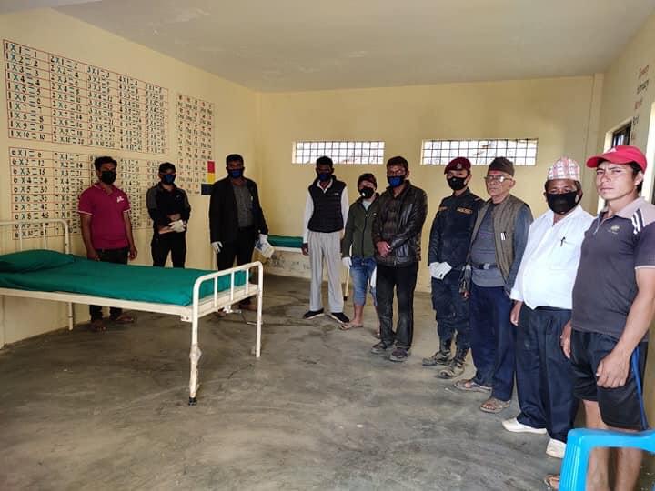 novel corona covid 19 quarantine tarkeshwor rural municipality