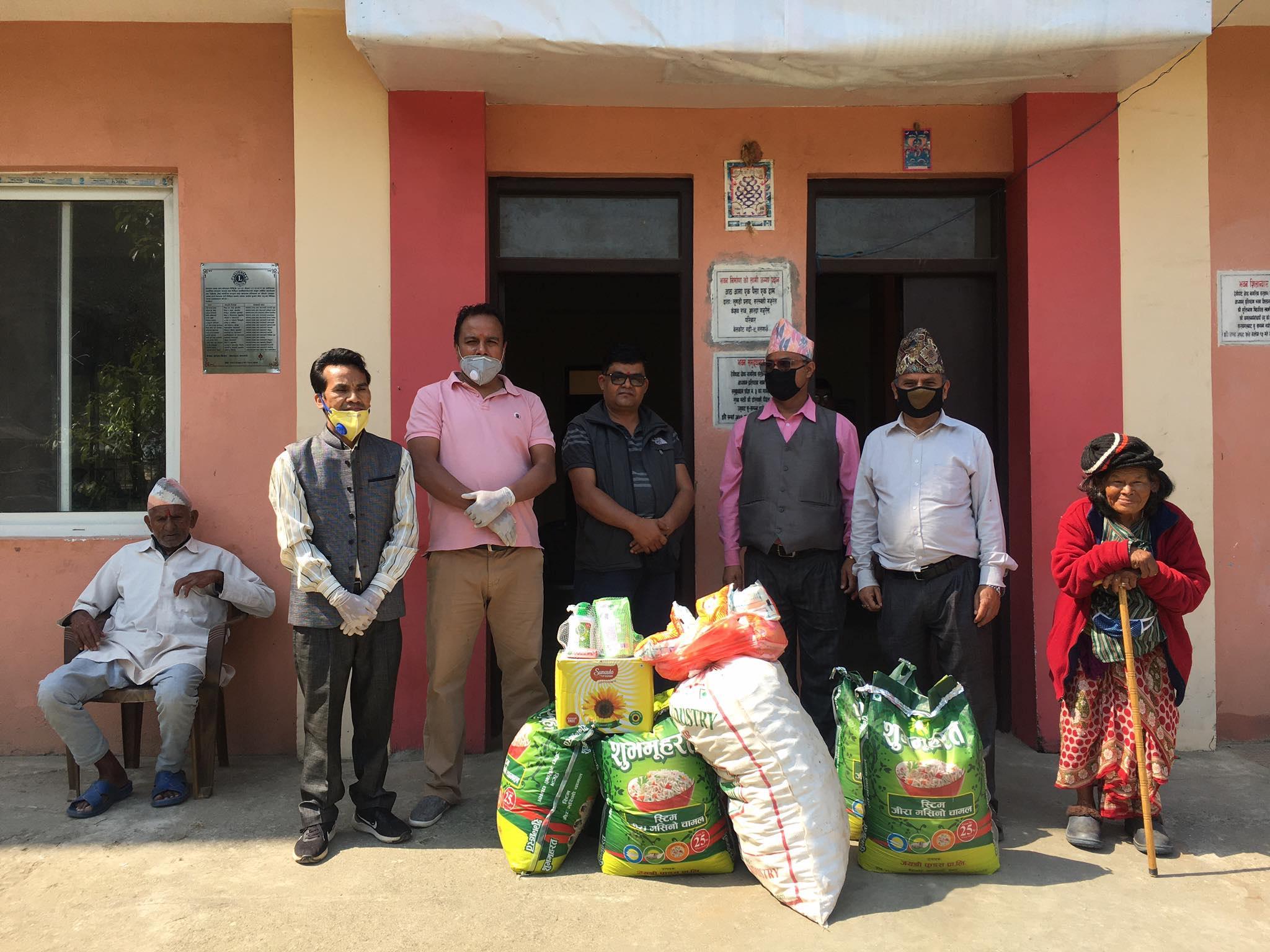 bidur tax constultancy donate food in lock down period