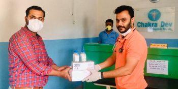 chakra dev policlinic distribute health equipment journalist nuwakot