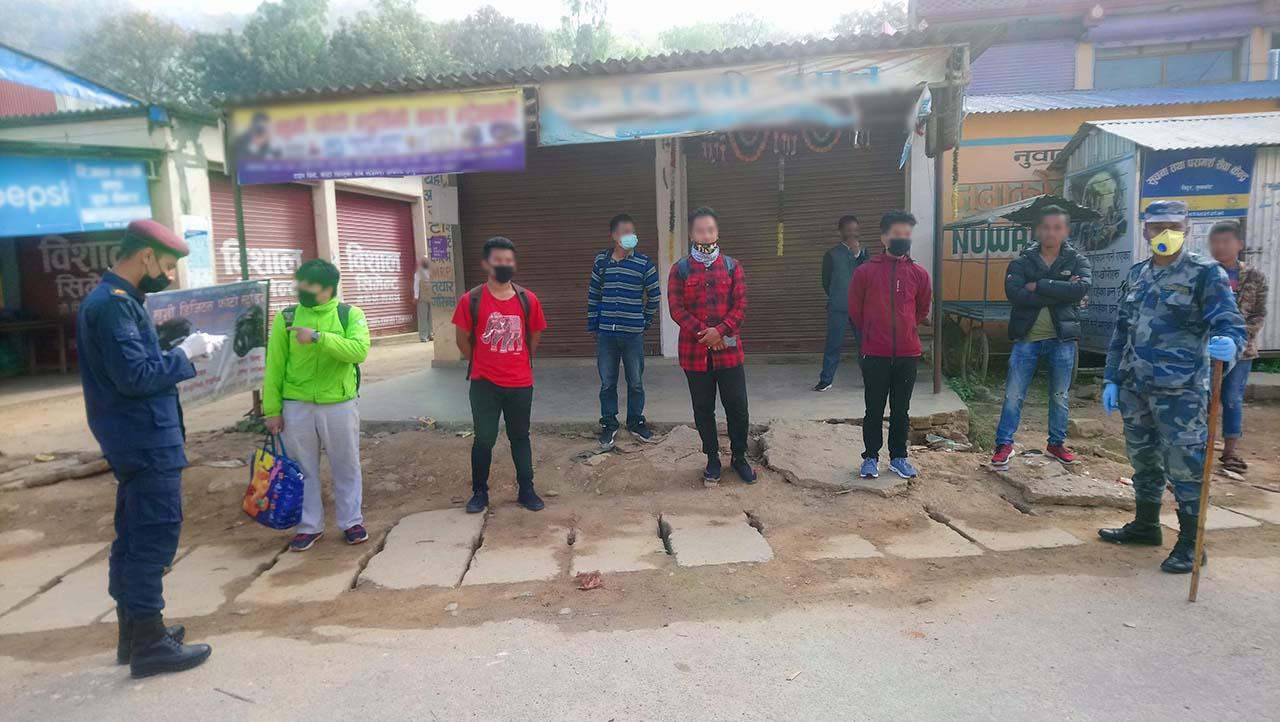 covid19 lockdown restricted people nuwakot police
