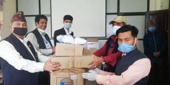 health materials donate to bagamati pradesh journalist and media person