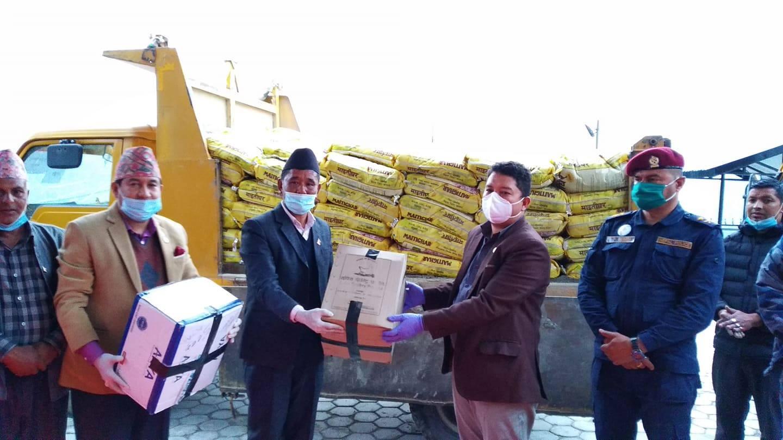 rasuwa health equipment ppi gloves and hand sanitizer to donate dao rasuwa