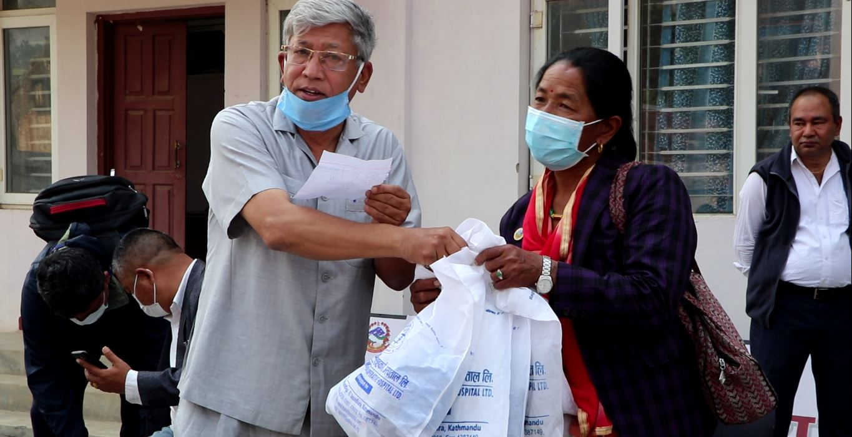 yashodha devi bhagwan arjun jagadish kedar dhananjaya narsingh kc donate ppi globes and hand sanitizer