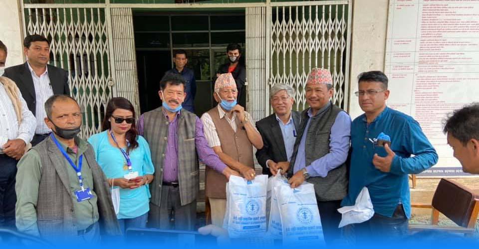 yashoda memorial hospital donate health material infrared thermo gun nuwakot