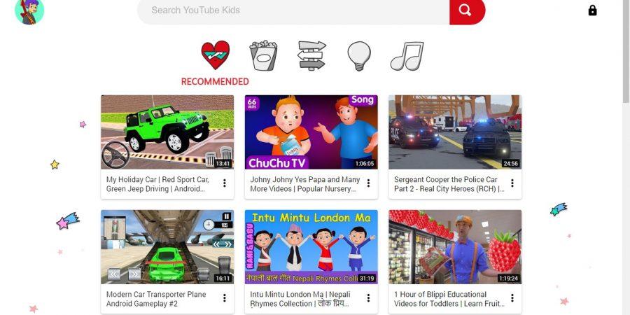 youtube kids homescreen