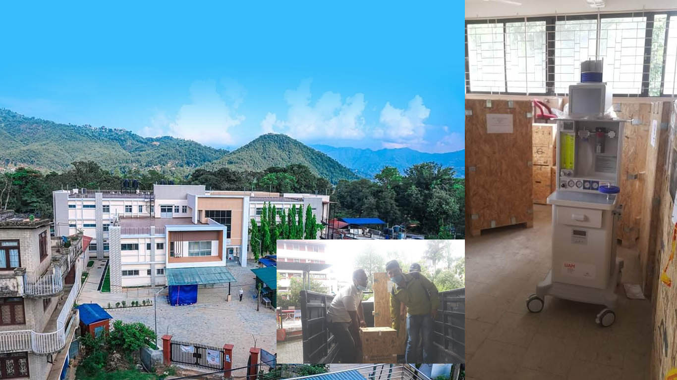 Anesthesia machine handover to district hospital nuwakot