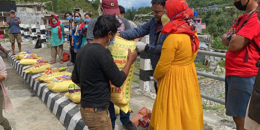 food donate to disability people in bidur municipality nuwakot