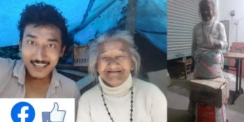food help to 75 years old women through social networking in nuwakot tws