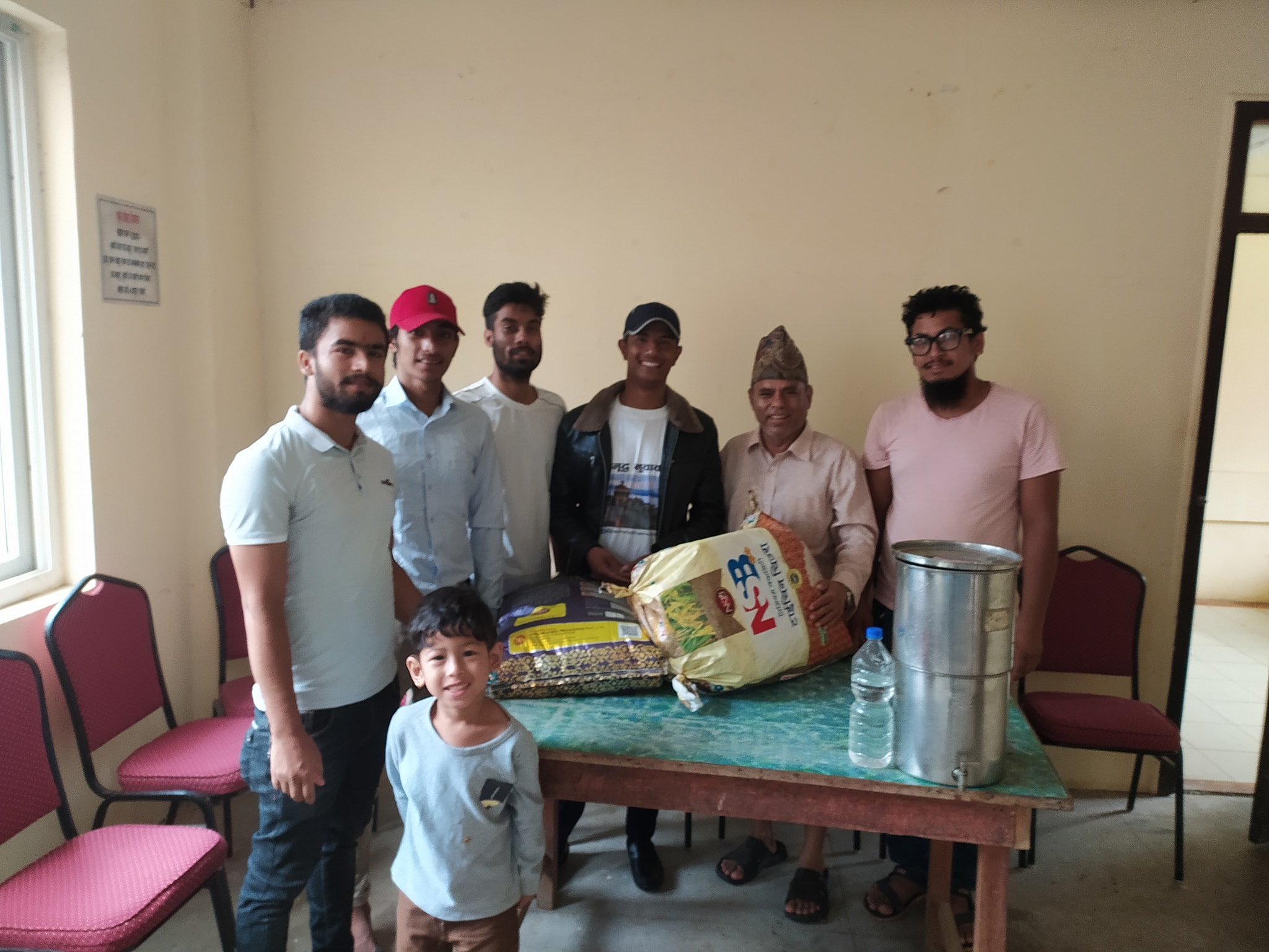 social mobilizer youth food donation in nuwakot