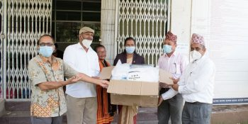 cdc ngo nuwakot health material donate in covid19 period